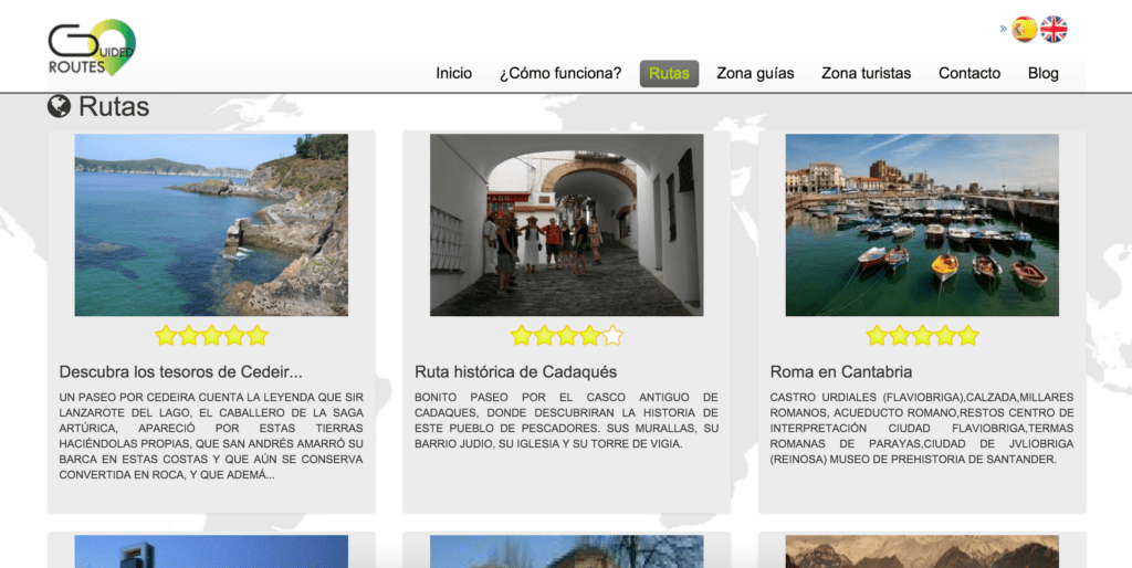diseño web guidedroutes