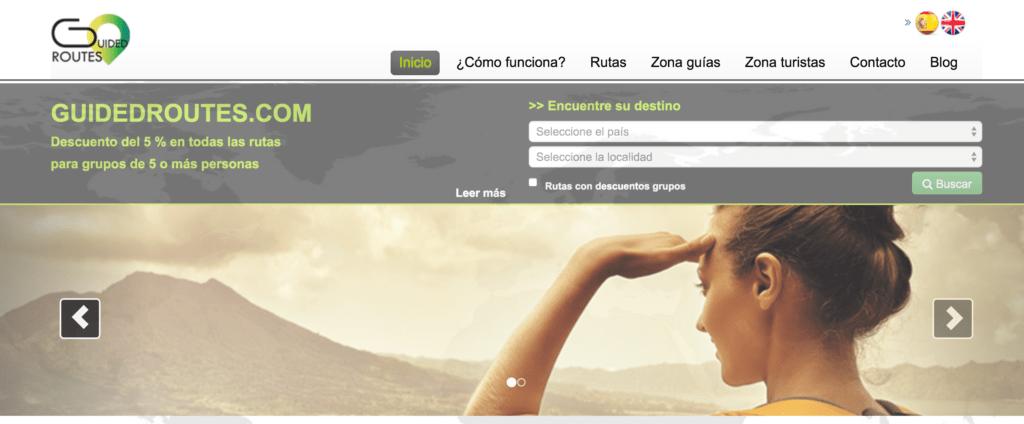 diseño de pagina web guidedroutes