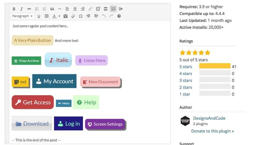 botones personalizados wordpress