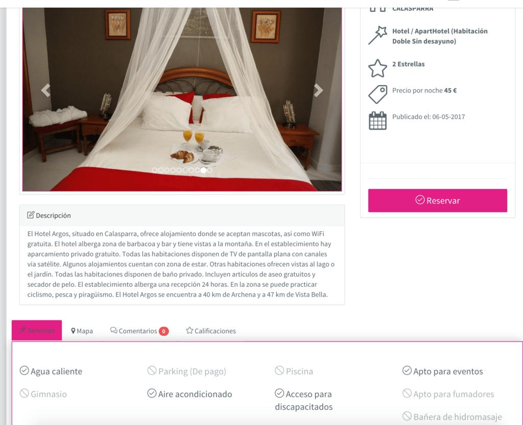 diseño web vista habitacion